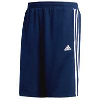 Mens adidas Essential 3 Stripe Fleece Shorts - XL & Large - NAVY BLUE - NWT