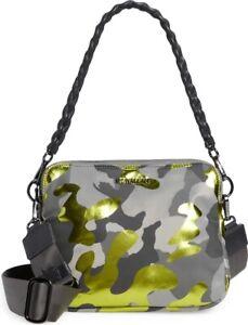 MZ WALLACE Medium Bowery Nylon Crossbody Bag Metallic Camo $245 NEW