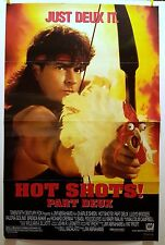 Hot Shots Part Deux Style B 1993 Original Movie Poster 27x40 Folded Double-Sided