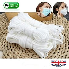 3mm Elastic Cord SOFT WHITE Band Strap Sewing Craft For Face Mask