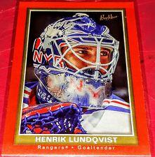 2005-06 Beehive Red #126 Henrik Lundqvist Rookie Card Parallel RC RANGERS NM-MT