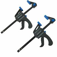 Silverline 2 x 100mm Ratchet Mini Speed Clamps Woodworking Carpentry Crafts DIY