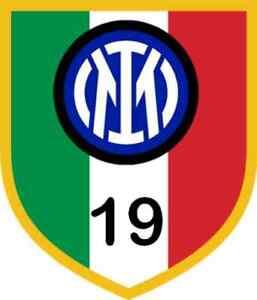 Coppia ADESIVO Stickers INTER SCUDETTO n. 19 STEMMA TRICOLORE 2020/2021
