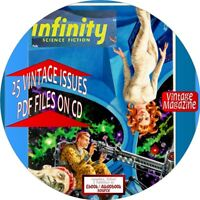 INFINITY SCIENCE FICTION MAGAZINE - 25 VINTAGE ISSUES - PDF ON CD