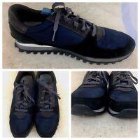 Paul Smith Jeans Mens Sz US 12 EUR 45 Athletic Shoes Leather/Mesh Black/Drk Blue