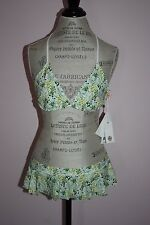 NWT Womens Tory Burch Botanical Watercolor Toning 2-Piece Swimsuit Size Large