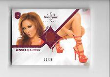 2009 Benchwarmer Ultimate Jennifer Korbin Pink Foil High Heel Shoe Swatch 12/25