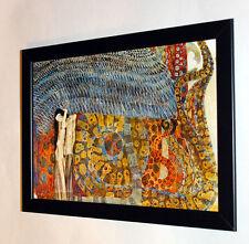 Gustav Klimt Beethoven frieze part 2 framed, giclee CANVAS PRINT poster