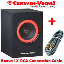 "Cerwin Vega SL-10S 10"" Powered Subwoofer Home Theater 212 Watt Built in Amp"