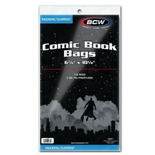100 BCW Current Size COMIC BAGS Acid Free Better than Ultra Pro