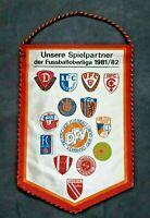 Orig. DDR Oberliga Wimpel 1981/82 Vorwärts Frankfurt/O Gegner FCM BFC FCK Jena