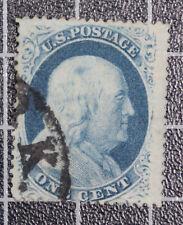 Scott 24 1 Cent Franklin Used Nice Stamp SCV $37.50