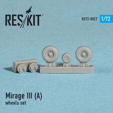 Reskit 1/72 Dassault Mirage III (A) Wheels for Heller kits