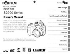 FujiFilm FinePix S2900 Digital Camera User Guide Instruction Manual