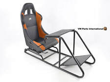 Car Gaming Racing Simulator Frame Chair Bucket Seat PC PS3 PS4 XBOX Black/Orange