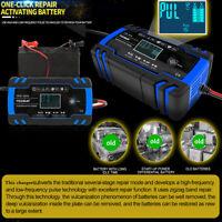 12/24V 8A 150Ah Chargeur de Batterie 6A/12v Voiture Moto Indicateur EU plug