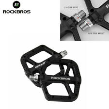 New ROCKBROS MTB Bike Bearing Wide Flat Platform Pedals Non-slip Nylon Pedals