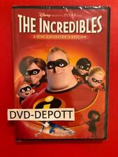 The Incredibles Disney PIXAR DVD 2 DISC AUTHENTIC W Disney Rewards Points *READ*