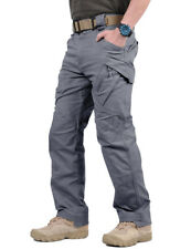 GRAY 38'' IX9 Mens Tactical Cargo Pants Safari Expedition Workout Pants Trousers