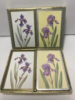 Vintage Congress Playing Cards Iris Flower Design Double Deck Designer Series