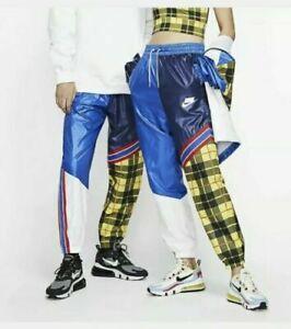 Nike Sportswear NSW Women's Woven Plaid Pants Blue CI7917 492 Size XS
