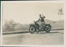 Espagne, de Madrid à Saragosse en Moto, Harley Davidson, Indian  Vintage print,