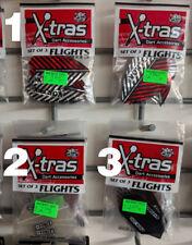 Dart World X-tras DARTS Flights Set of 3 Soft Steel Shafts Darts