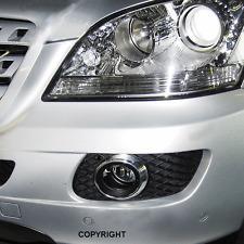 Mercedes  ML W164, bis Baujahr 09/2008, Chrom Nebellampen Blenden rund