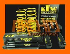 "VR COMMODORE V6 L/AXLE 30mm ""LOW"" KING SPRINGS AND MONROE GT SPORT STRUTS/SHOCKS"