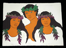 "1970s HAWAII SILKSCREEN PRINT 7/250 ""KEIKIS - CHILDREN"" by JIM WALSH (Ger)"