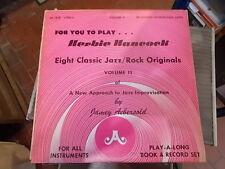 HERBIE HANCOCK EIGTH CLASSIC JAZZ ROCK ORIGINALS JAMEY AEBERSOLD VOLUME 11 LP