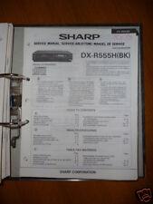 Manuel de service pour Sharp dx-r555h Lecteur CD, original