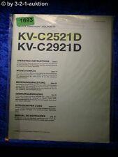 Sony Bedienungsanleitung KV C2521D / C2921D Color TV (#1693)