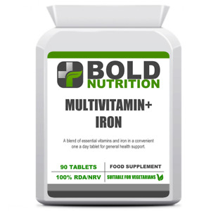 Multivitamins & Iron 90 One a Day Tablets, for General Health, Immune Support