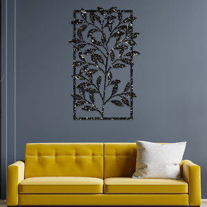 067 Beautiful Leaves Modern Nature Painted Wooden Wall Hanging Art Decoration