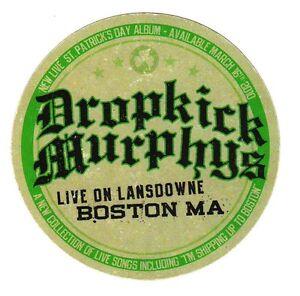 DROPICK MURPHYS Live On Lansdowne New RARE Sticker +FREE Punk Rock Stickers!