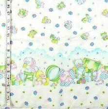 3 pc Toy Ducks,Elephants,Ball Border Print Flannel Fabrics,Crafts,Quilting