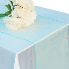 10pcs 30x275cm Soft Organza Sheer Table Runner Chair Sashes Fabric Wedding Party