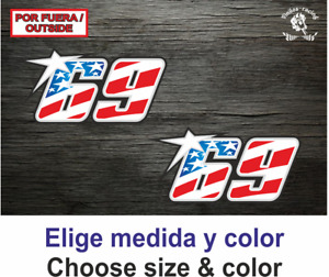 69 Nicky Hayden Moto GP Superbikes  Sticker Vinilo Vinyl Autocollant Aufkleber