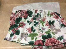"WAVERLY  bedskirt TWIN floral Roses 12.5"" Drop French Country Shabby Pinks"