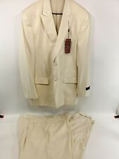 Steve HARVEY 48L/42L Ivory Creme Off-White Solid Exotic Adams Suit 2PC Fashion