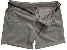 New Womens Marks & Spencer Beige Shorts & Belt Size 20 LABEL FAULT