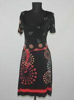 Desigual womens black floral dress Size M