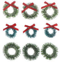 10pcs Mini Christmas Wreaths Miniature Garden Home Decoration  Dollhouse DecorSE