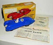 Vintage Jetex Jet Propelled Racing Car C. 1950's Rare Blue Plastic Boxed  G196
