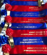 2 x Horse Sashes - Champion & Reserve - Your Own Print