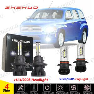 For Chevrolet HHR 2006-11 White LED Headlights Hi/Low+Fog Light Bulbs Combo Kit