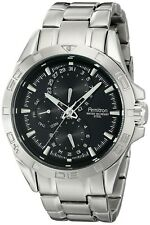 Armitron Men's 20/5059BKSV Stainless Steel Watch with Black Dial - BRAND NEW