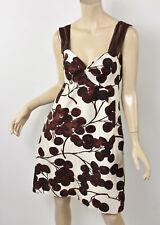 YOANA BARASCHI Ivory & Java AMAZON BERRY Printed Silk Mesh Sleeve Dress M 6