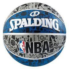 SPALDING Graffiti Blu Basket taglia 7 Adulto Pallacanestro Ufficiale NBA / Peso